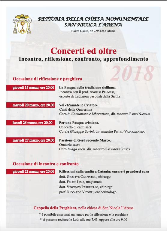I concerti, la riflessione e la preghiera a San Nicola L'arena